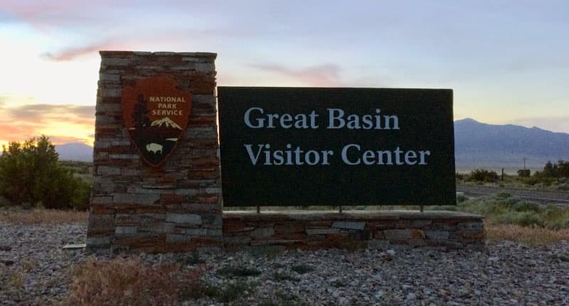 Great Basin Visitor Center Sign