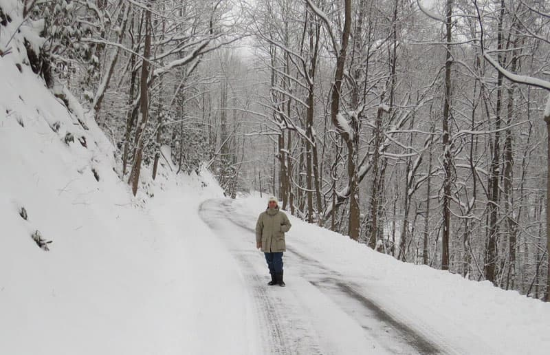 Great Smoky Mountains National Park snow