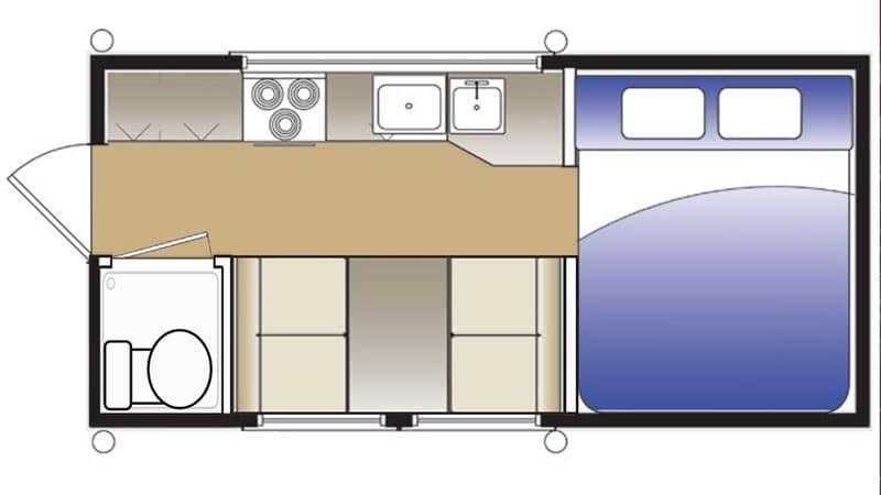 Hallmark Flatbed Camper Nevada Floor Plan