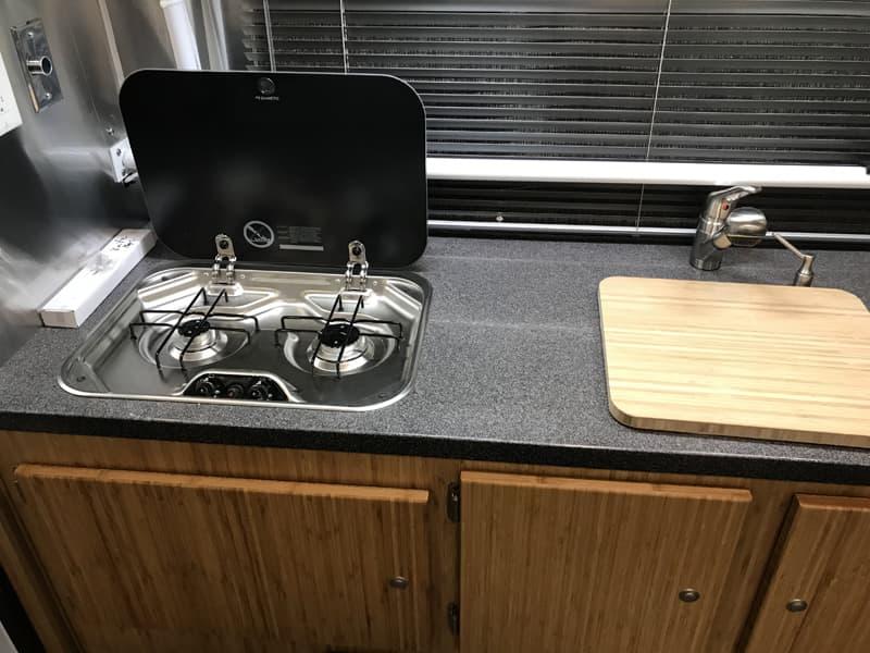 Hallmark Flatbed Camper Kitchen