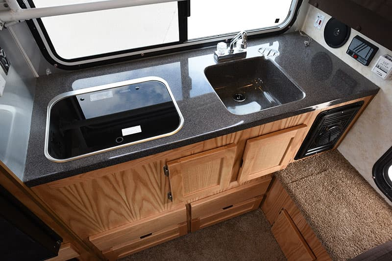 Hallmark Milner Kitchen Counter With Cooktop and Sink