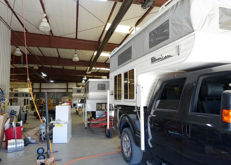Jase and Lauri's camper at Hallmark factory