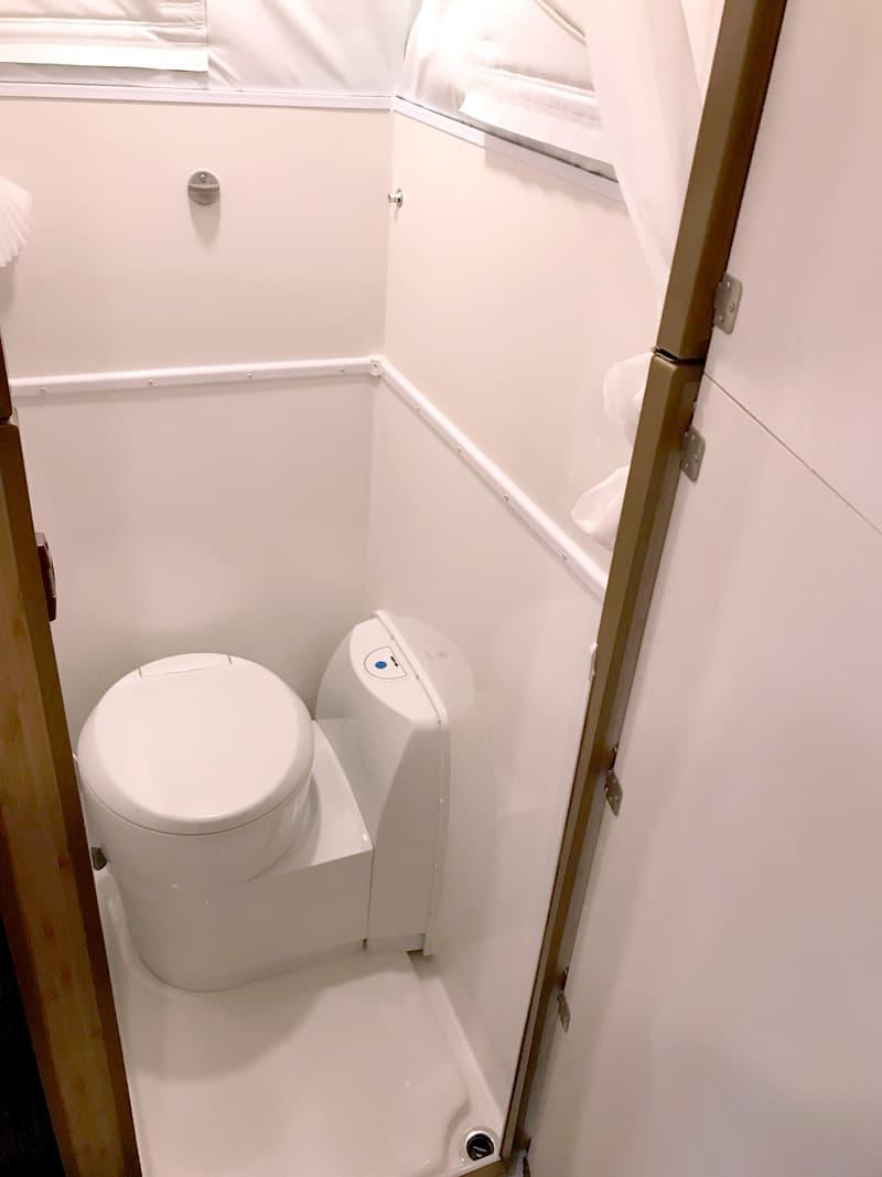 Hallmark Flatbed Camper Bathroom