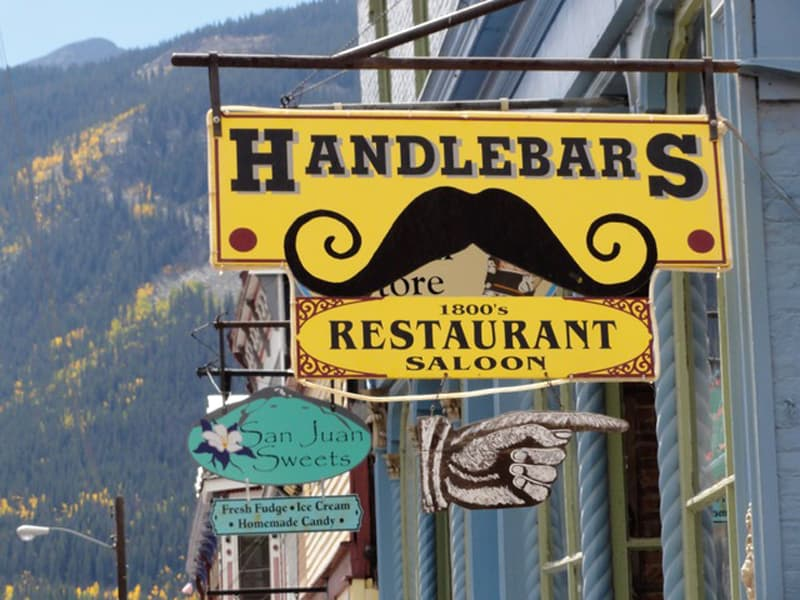 Handlebars in Silverton, Colorado