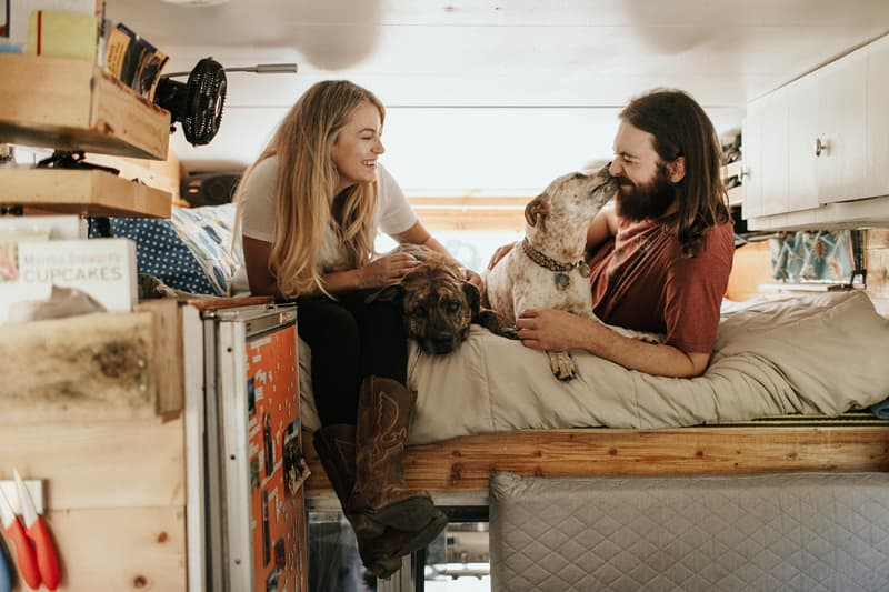 Hannah Jimmy In Truck Camper