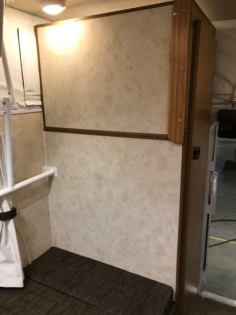 Hard Walled Popup Camper Bathroom
