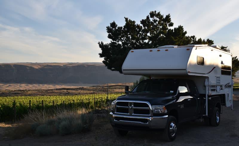 Vineyard Camping Washington State