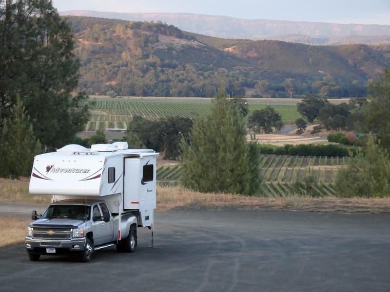Harvest Hosts camping, vineyard in California