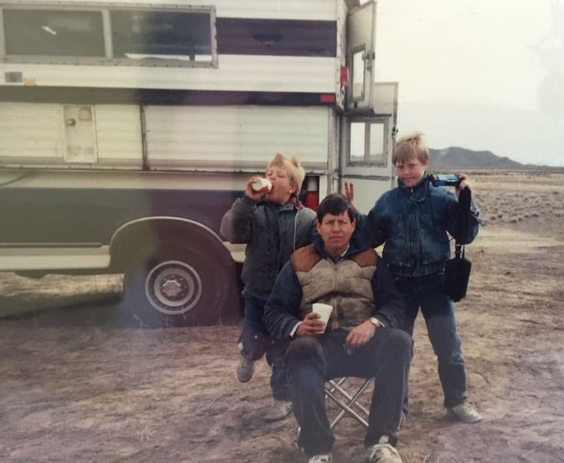 Kids-growing-up 1968 Siesta camper