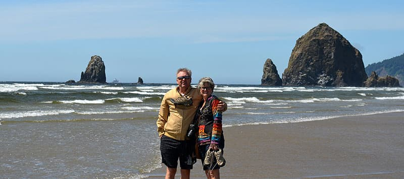 Haystack Rock, Oregon on the Pacific Ocean