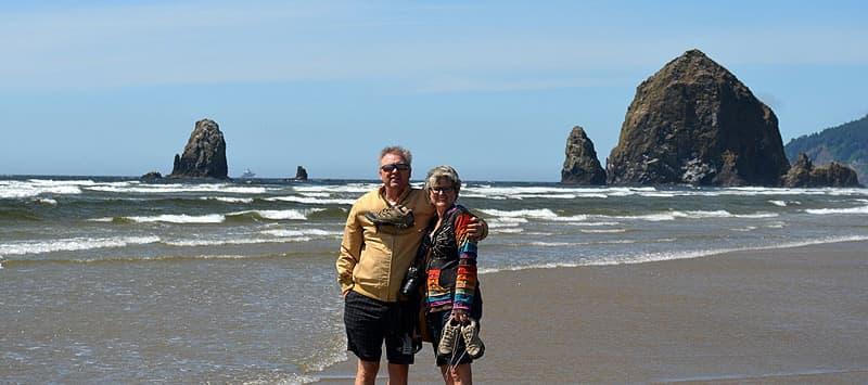 Haystack Rock, Oregon on the Pacific Ocean