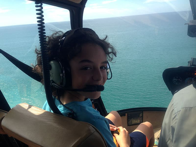 Helicopter ride, road schooling