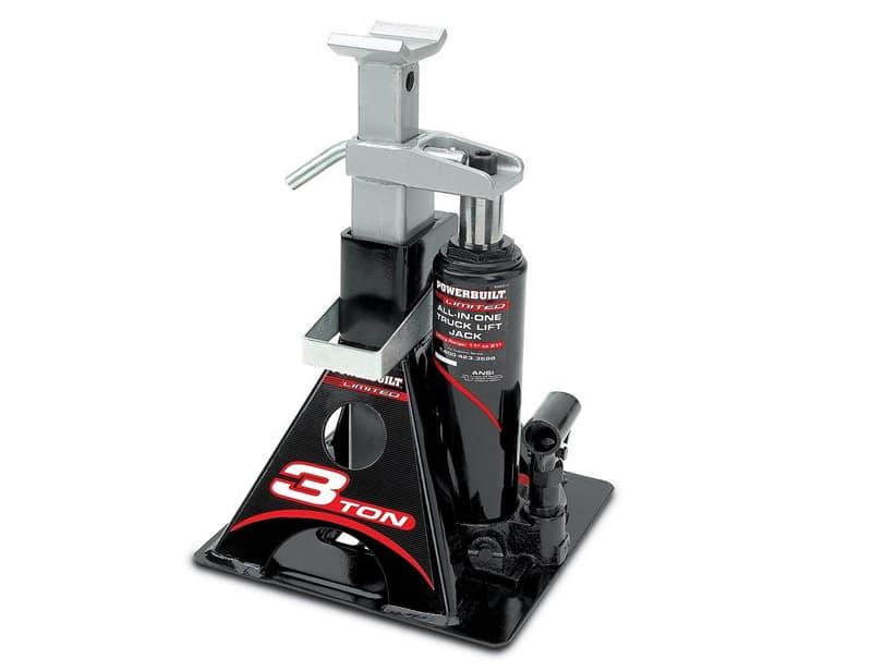 Hi-Lift bottle jack with stabilizer pad