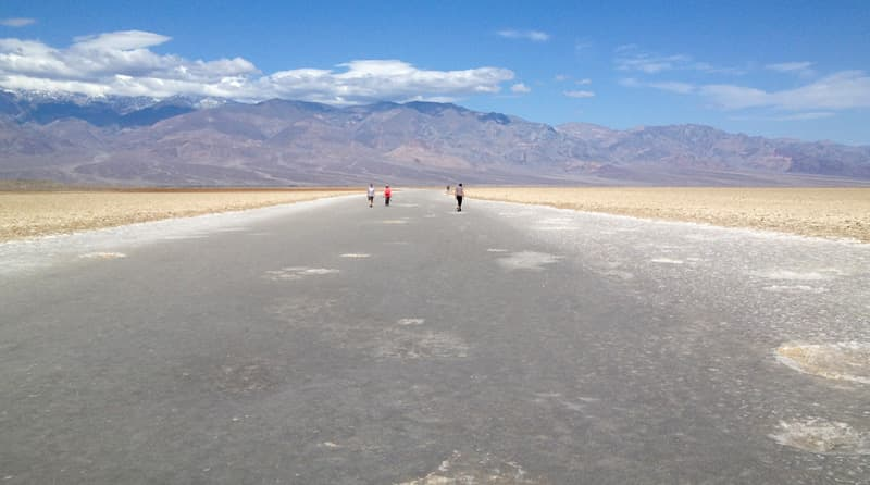 Hike Death Valley salt flats