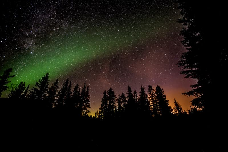 The Northern Lights in Hinton, Alberta