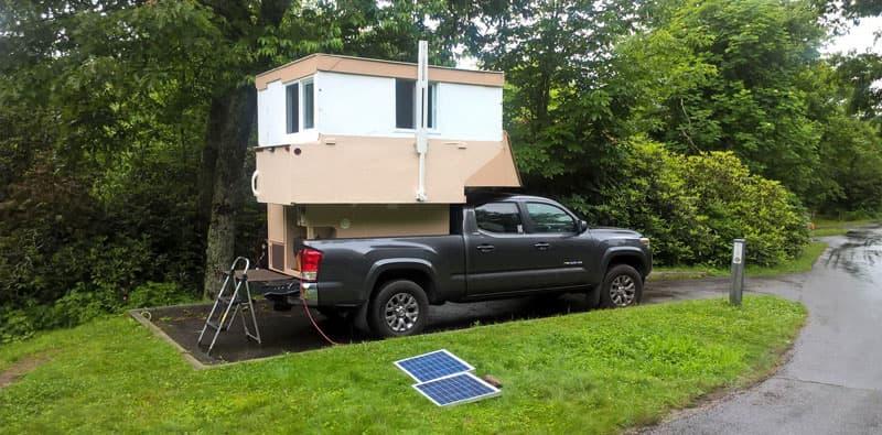 Homebuilt Camper Campsite