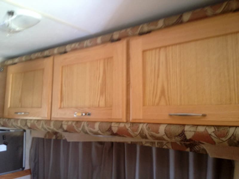 Homemade cabinets, no bunk bed