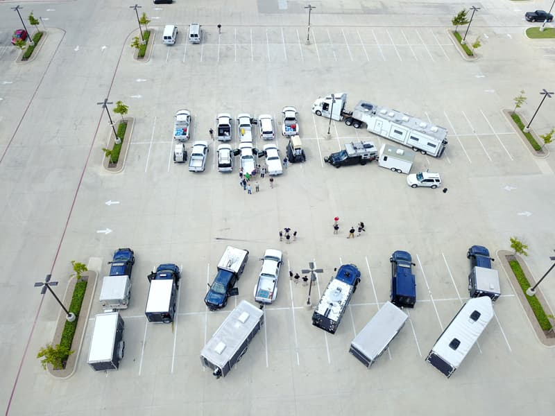 Hurricane Harvey Parking Lot