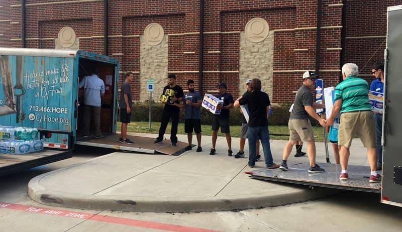 Supply trailer for Hurricane Harvey