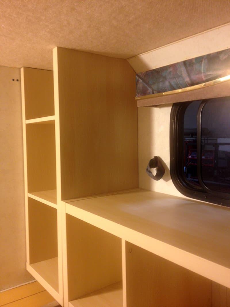IKEA Kallax shelving units cut to size