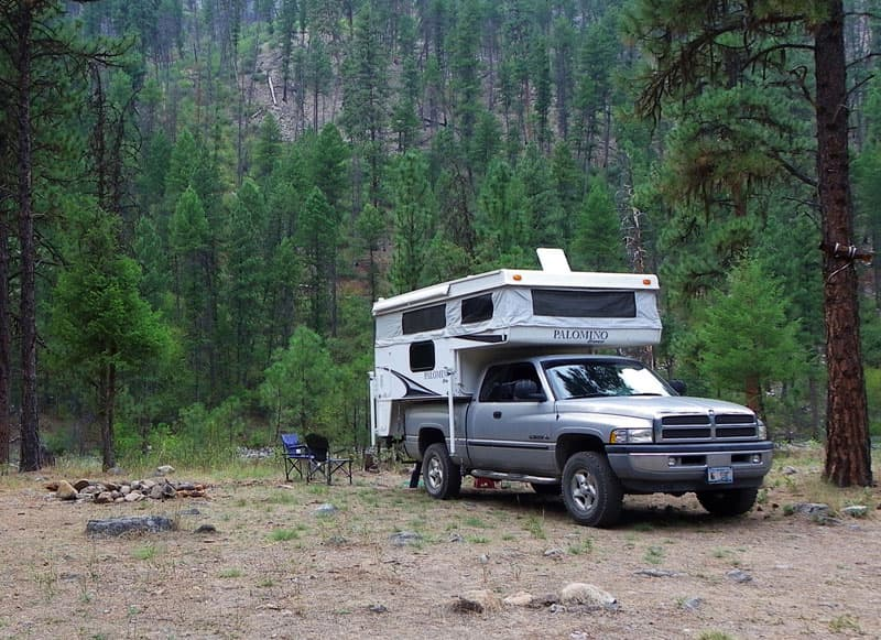 Camping in Idaho on the Salmon river
