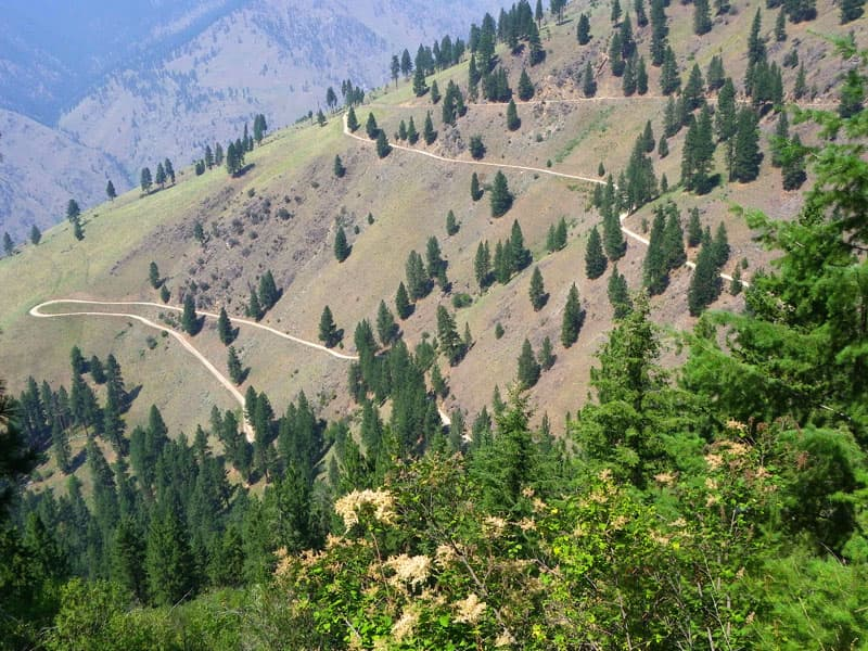 French Creek grade dropping into Idaho's Salmon River
