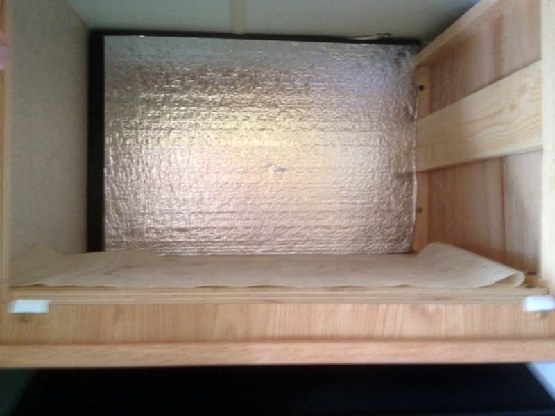 Insulation in microwave area