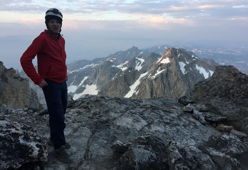 James Ortmann And Beautiful Scenery Climbing Grand Teton