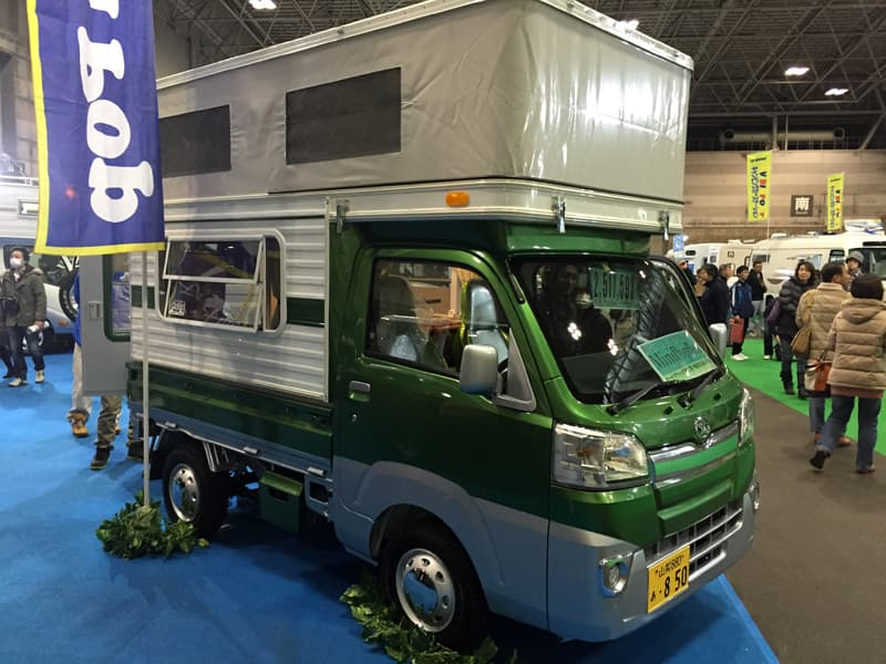 Four Wheel Camper at RV Show in Japan