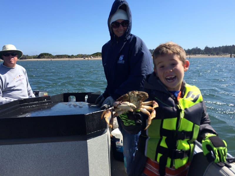 Jensen crabbing in Oregon