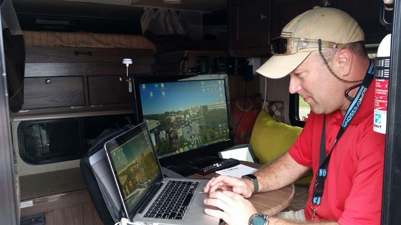 John Buell Inside Palomino Camper Working