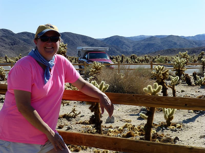 Diane in Joshua Tree National Park