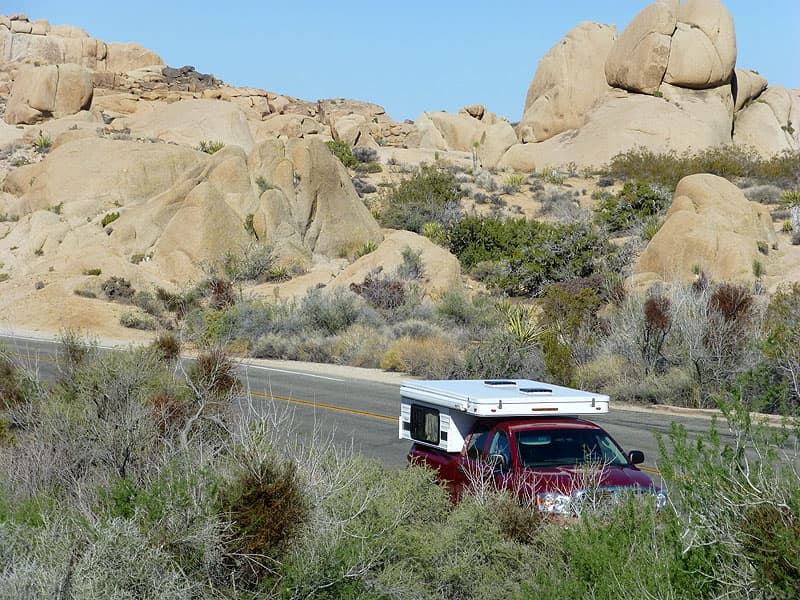 Four Wheel Camper in Joshua Tree National Park