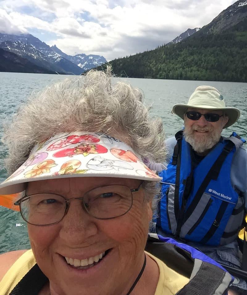 Kayaking on Waterton Lake