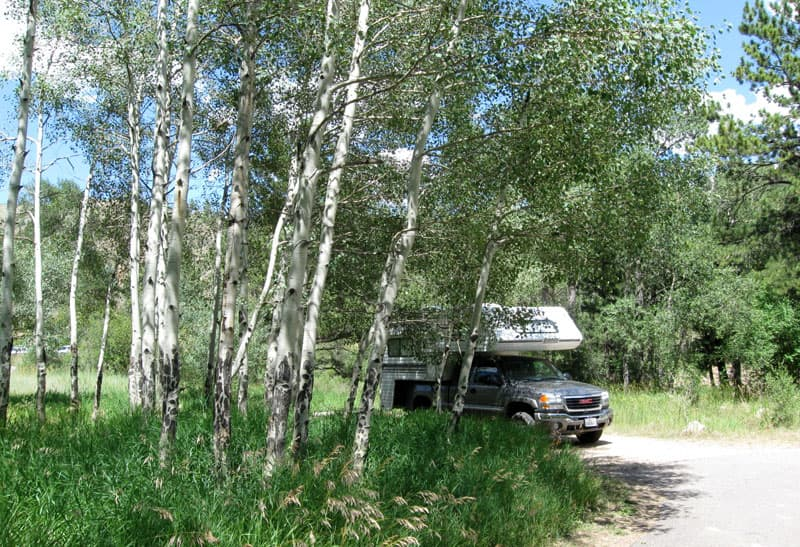 Kelly Flats forest campground in Colorado