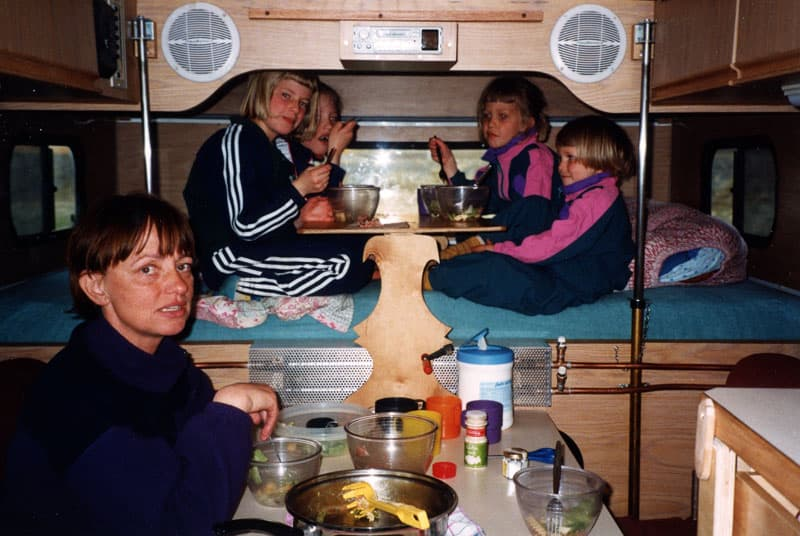 Kids In Alaskan Camper