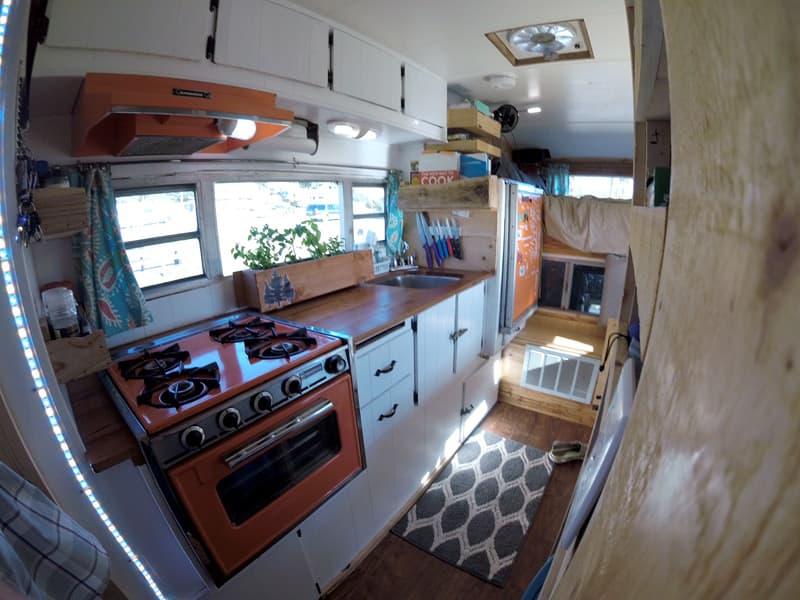 Kitchen And Herb Garden In Camper