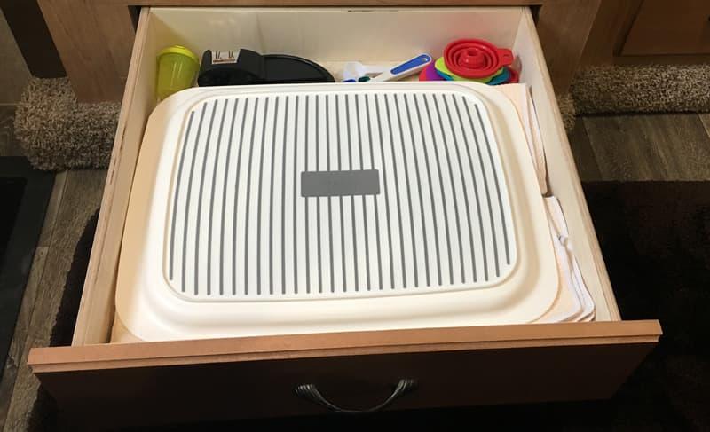 Kitchen linens drawer