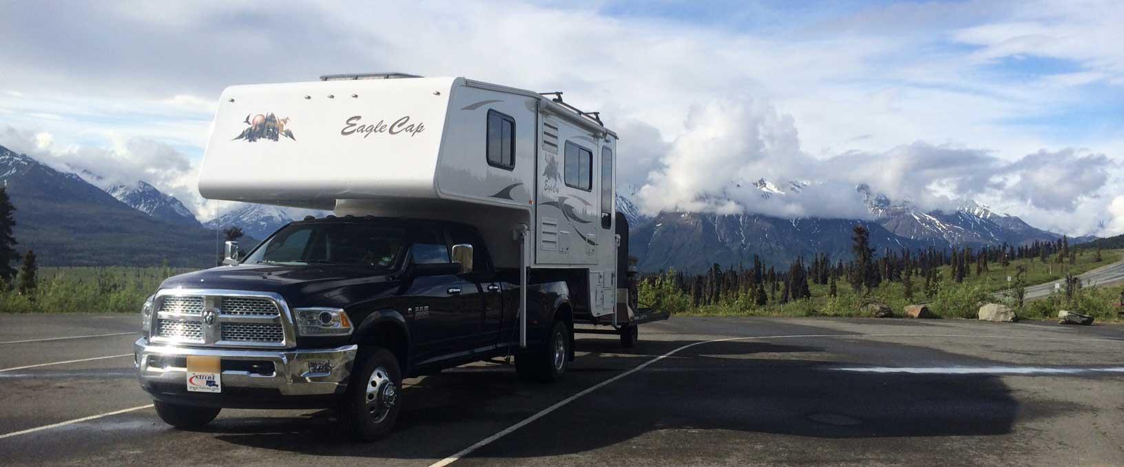 Camping in Knob Lake, Alaska
