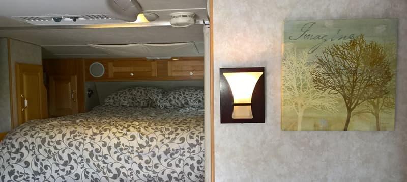 LED sconces in Truck Camper