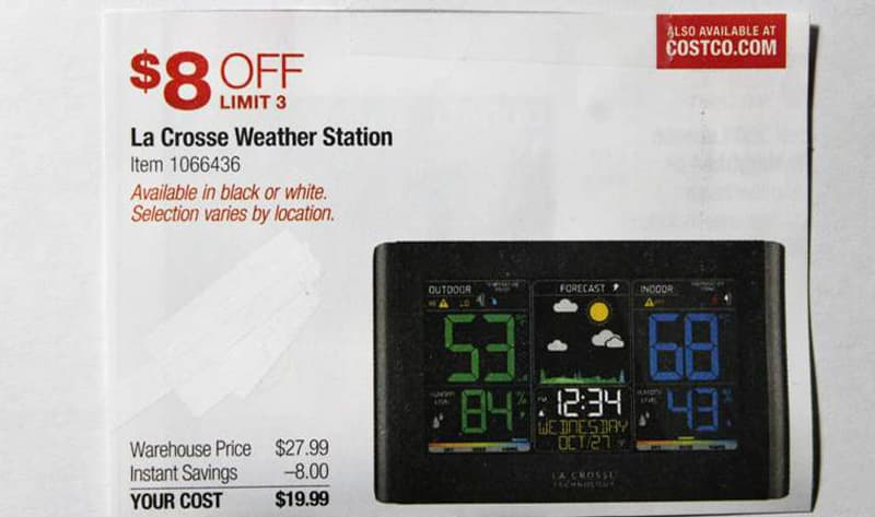 LaCrosse weather station at Costco