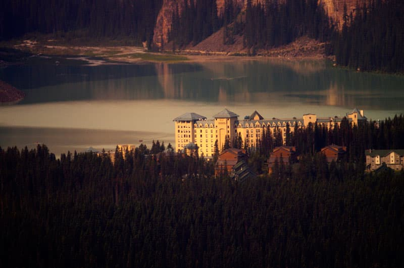 Lake Louise Hotel from ski resort