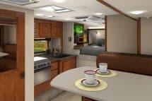 2017 Lance 1062 truck camper interior