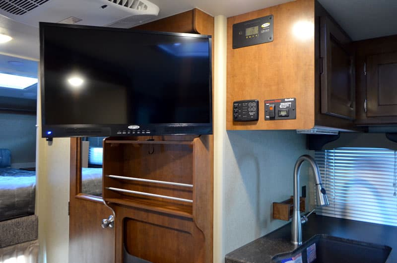 "Lance 1172 entertainment center and 28"" television"
