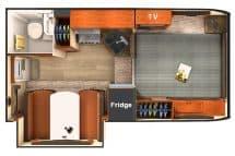 2017 Lance 855S floor plan