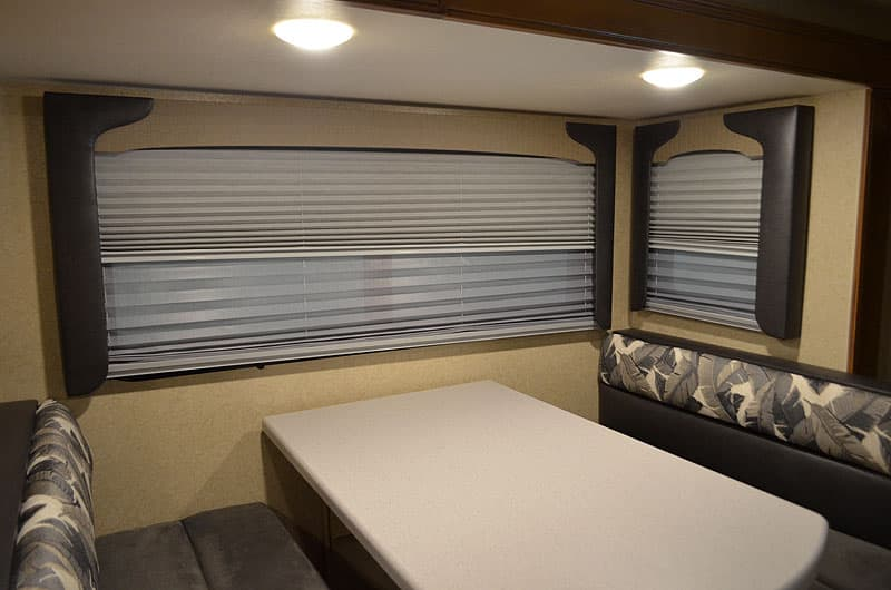 Day night shades and new valences in the Lance Camper dinettes