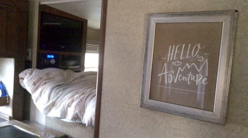 Lance Camper frame on wall