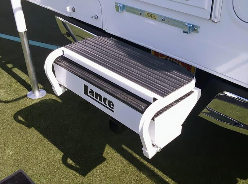 Lance Ultra Step Plus Bumper folded