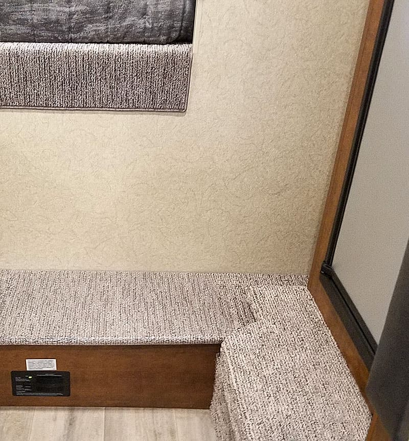 Durable sand colored carpet