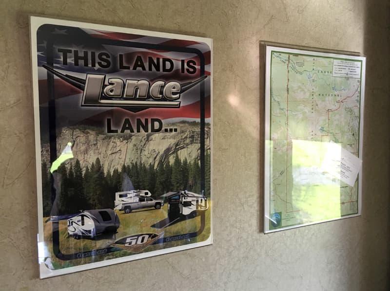 Lance poster in camper